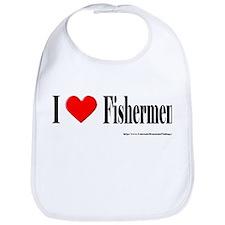 I Heart Fishermen Bib