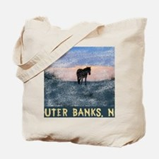 Funny Wild horse Tote Bag