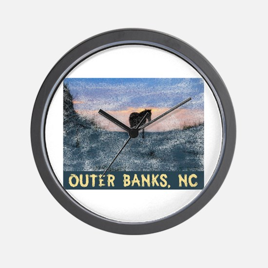 Cute Outer banks Wall Clock