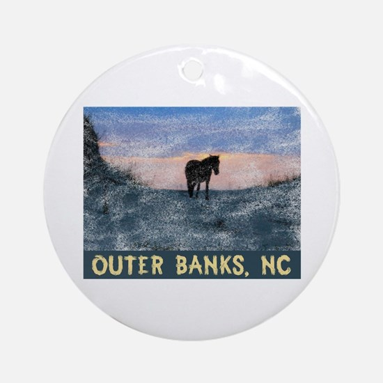 Cute Outer banks Round Ornament