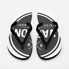 Kick Cancers Ash! Flip Flops