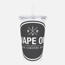 Kick Cancers Ash! Acrylic Double-wall Tumbler
