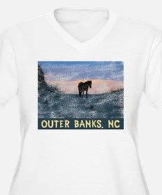 Outer Banks Dune Wild Horse Plus Size T-Shirt