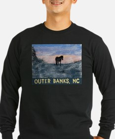 Outer Banks Dune Wild Horse Long Sleeve T-Shirt