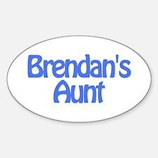 Brendan's Aunt Oval Decal