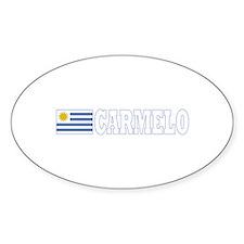 Carmelo, Uruguay Oval Decal