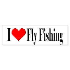I Heart Fly Fishing Bumper Bumper Bumper Sticker