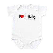 I Heart Fly Fishing Infant Bodysuit