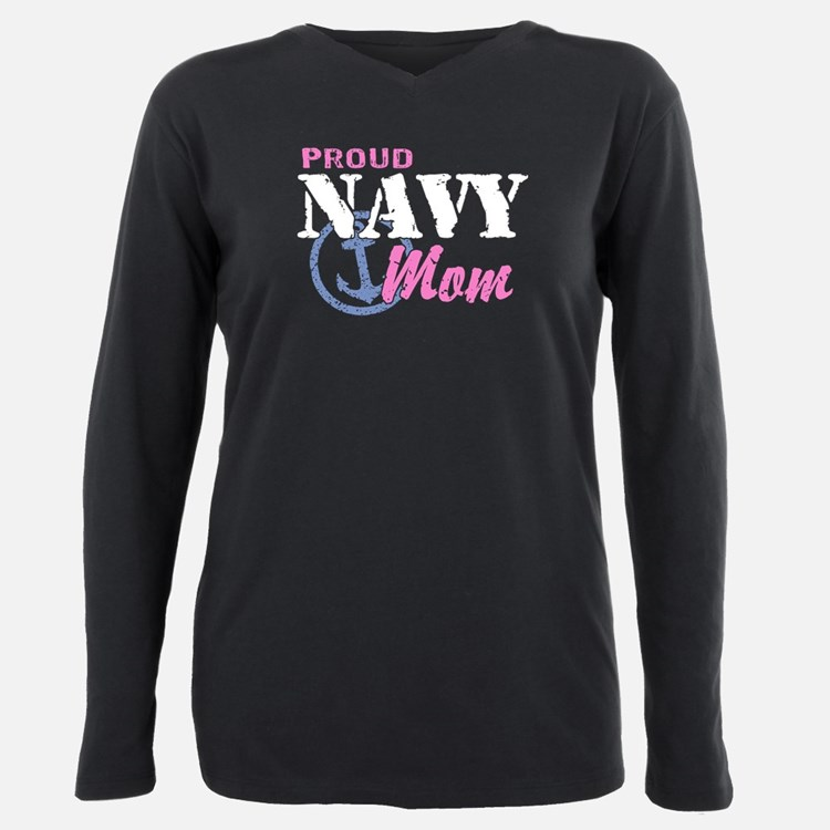 Cute Navy son Plus Size Long Sleeve Tee