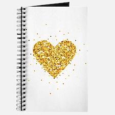 Gold Glitter Heart Illustration Journal