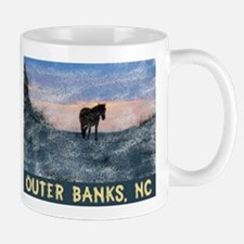 Outer Banks Dune Wild Horse Mugs