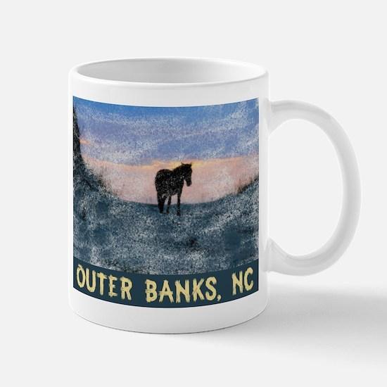 Outer Banks Dune Wild Horse Mugs