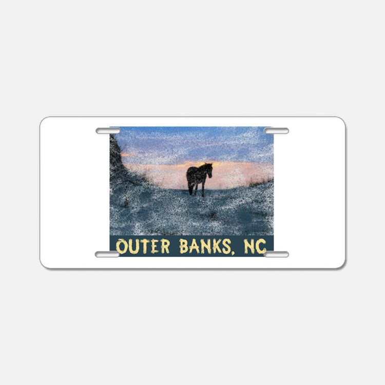 Outer Banks Dune Wild Horse Aluminum License Plate
