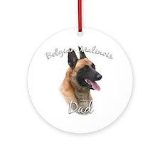 Malinois Dad2 Ornament (Round)