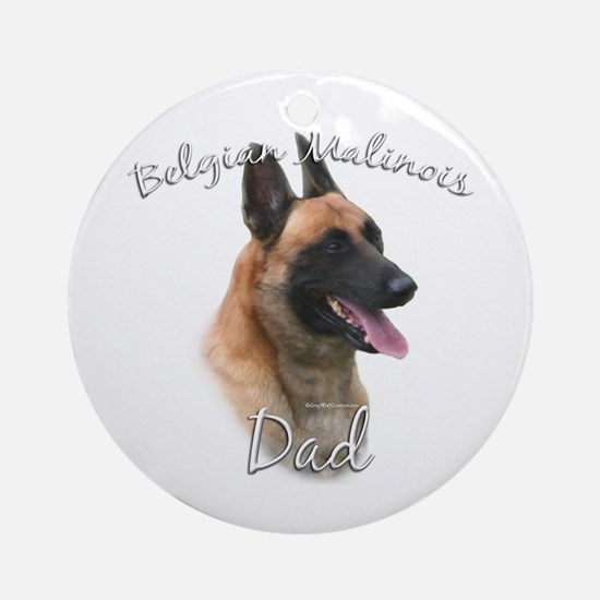 Malinois Dad2 Ornament (Round)