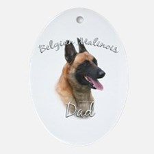 Malinois Dad2 Oval Ornament
