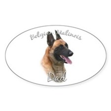 Malinois Dad2 Oval Decal