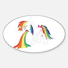 Rainbow Puke Decal