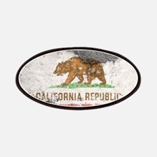 california flag concrete wall Patch