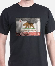 california flag concrete wall T-Shirt