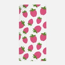 Pink Strawberry Pattern Beach Towel