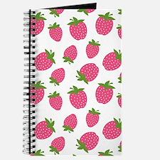 Pink Strawberry Pattern Journal