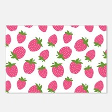 Pink Strawberry Pattern Postcards (Package of 8)