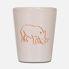 Unique Rhino Shot Glass