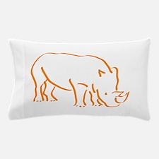 Cute Rhino Pillow Case