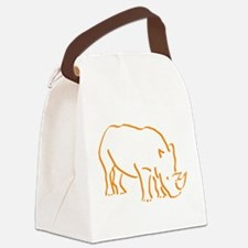 Unique Rhino Canvas Lunch Bag