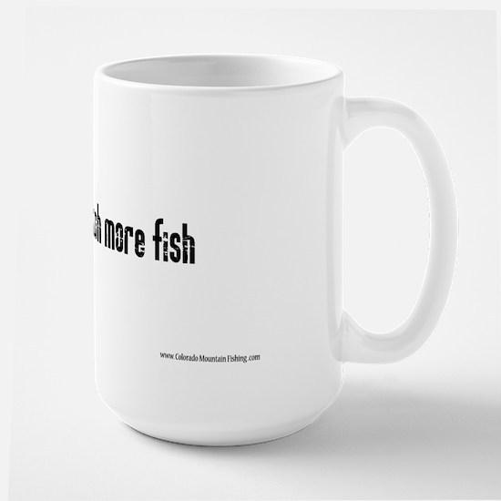 Master Baiters catch more fis Large Mug