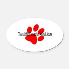no-excuse-red.psd Oval Car Magnet
