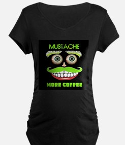 Mustache more Coffee Maternity T-Shirt