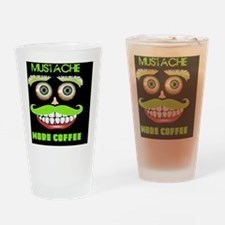 Mustache more Coffee Drinking Glass