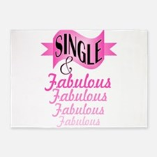 typography single and fabulous 5'x7'Area Rug