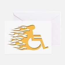 Speed Wheeling Greeting Card