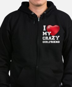 Funny I love my brother Zip Hoodie (dark)