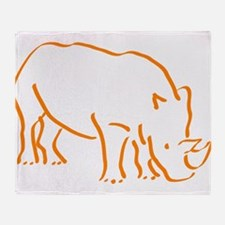 Cute Rhino Throw Blanket