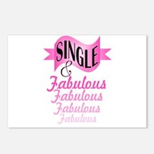 typography single and fab Postcards (Package of 8)