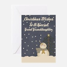 Great Granddaughter Christmas Card Greeting Card
