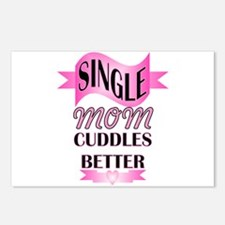 single mom cuddle better Postcards (Package of 8)