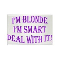 Cute Smart blonde Rectangle Magnet