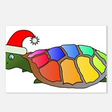 Christmas Rainbow Turtle Postcards (Package of 8)
