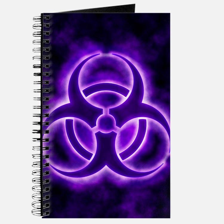 Purple Biohazard Symbol Journal