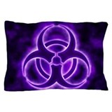 Biohazard symbol Pillow Cases