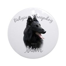 Sheepdog Mom2 Ornament (Round)