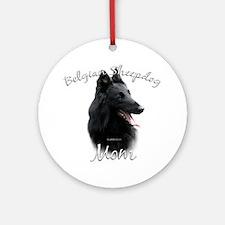 Sheepdog Mom2 Ornament (Round)