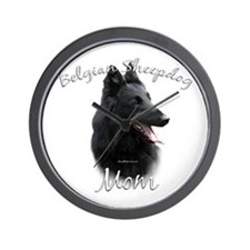 Sheepdog Mom2 Wall Clock