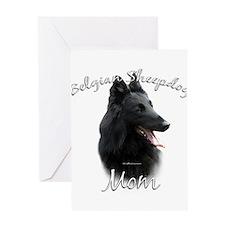 Sheepdog Mom2 Greeting Card