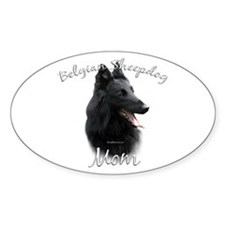 Sheepdog Mom2 Oval Decal